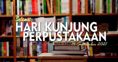 14 September 2021 Selamat Hari Kunjung Perpustakaan ke -26